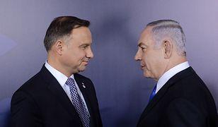 Prezydent Andrzej Duda i premier Izraela Benjamin Netanjahu.