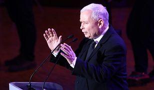 Jarosław Kaczyński podczas sobotniej konwencji PiS.