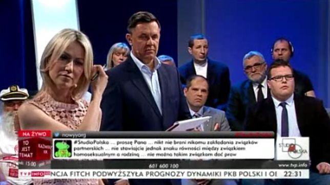 """Goście """"Studio Polska"""" obrażali homoseksualistów. Ogórek i Łęski nie zareagowali"""