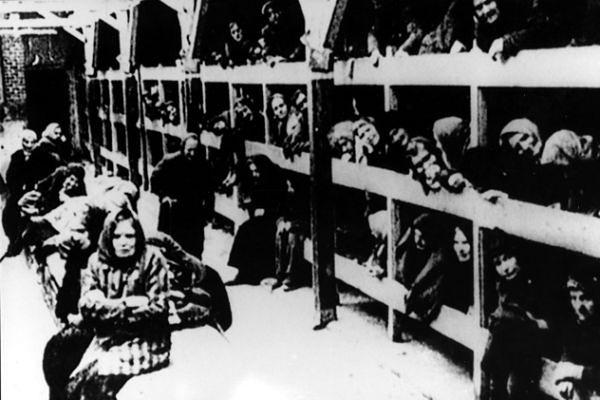 Więźniowie obozu KL Auschwitz-Birkenau - zdjęcie archiwalne