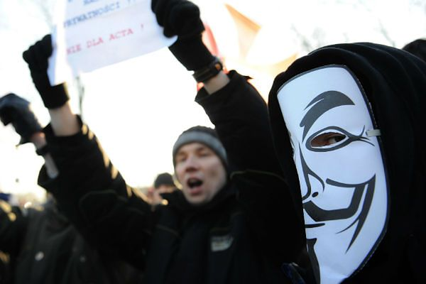 Protest ws. ACTA