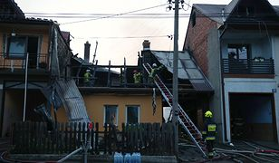 Miejsce pożaru we wsi Nowa Biała (Fot. PAP/Grzegorz Momot)