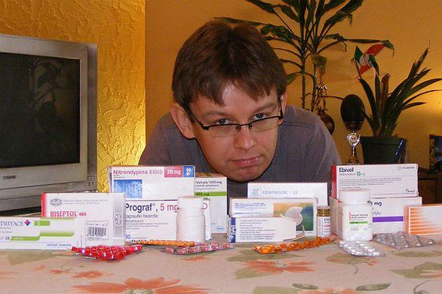Zenon Kubiak i leki, które musi codziennie zażywać