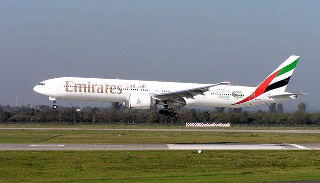 Boeing 777-300ER w barwach linii Emirates