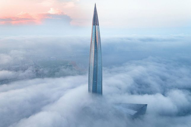 Łachta Centr w Petersburgu jest największym drapaczem chmur w Europie