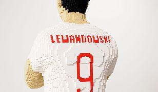 Lewandowski na PGE Narodowym! Jest cały z klocków