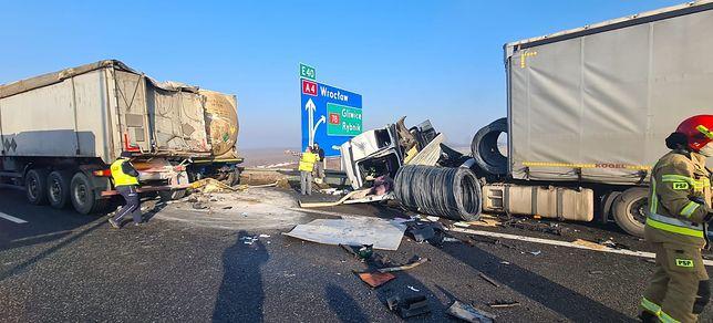 Wypadek na autostradzie A4 w Gliwicach