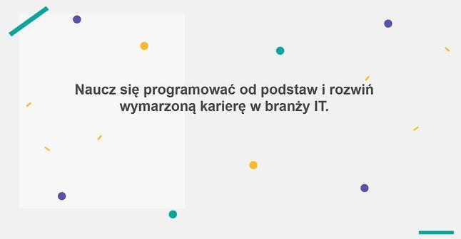 Hasło reklamowe szkoły programowania CodersLab