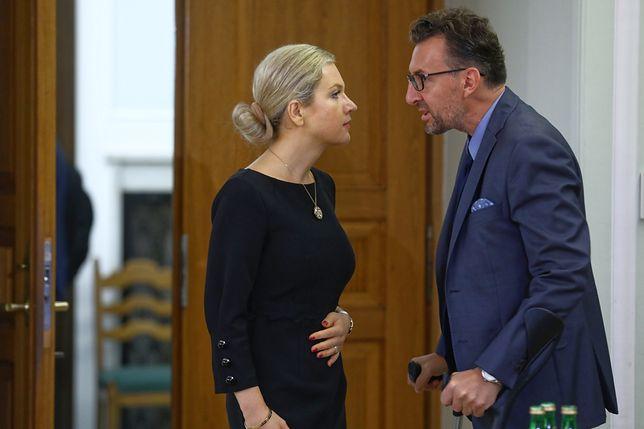 Małgorzata Wassermann i prof. Marek Chmaj przed środowym posiedzeniem komisji śledczej ds. Amber Gold