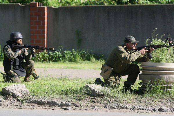 Strzelanina w okolicy Mariupolu