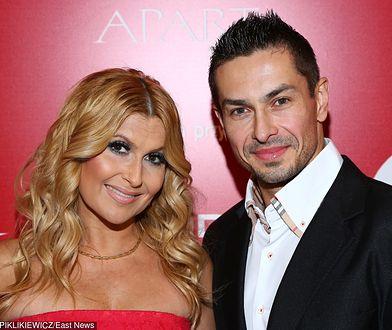 Katarzyna Skrzynecka z mężem, Marcinem Łopuckim