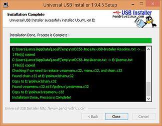 Universal USB Installer - kopiowanie obrazu na pendrive