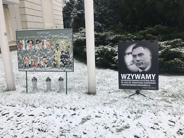 Straż Marszałkowska usunęła tablicę o ekshumacji. Sejm komentuje decyzję