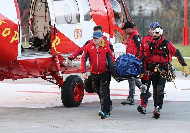 Ciało mężczyzny przetransportowano do Zakopanego