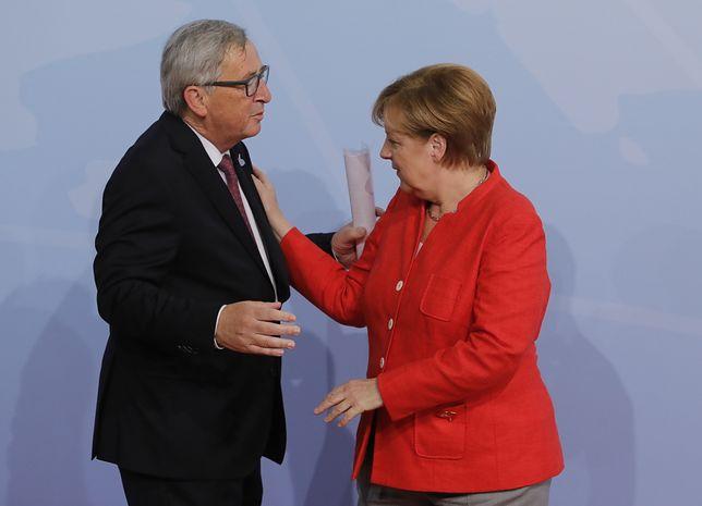 Jean-Claude Juncker i Angela Merkel w Hamburgu na szczycie G-20