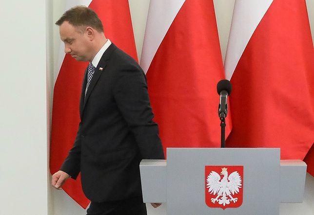 Andrzej Duda skarżył się na brak informacji o referendum