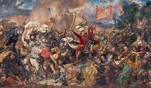 "Obraz Jana Matejki ""Bitwa pod Gruwaldem""."