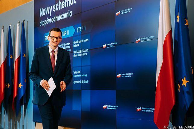 20.04.2020. Konferencja prasowa premiera Mateusza Morawieckiego (fot. Krystian Maj/KPRM)