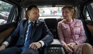 Para prezydencka podczas jednej z zagranicznych podróży