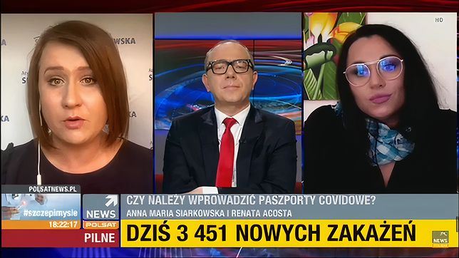 Widzowie Polsat News byli świadkami spięcia między posłanką PiS i komentatorką