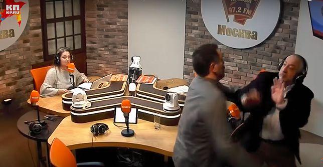 Bójka w studiu rosyjskiego radia