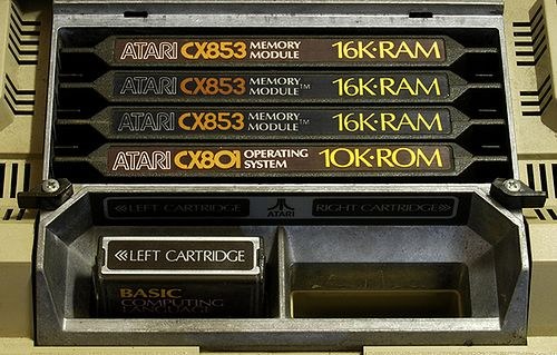 Atari 800; Cztery sloty (3 karty po 16 KB Ram i 1 slot z kartą ROM.
