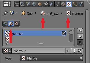 Kontekst materiału dla tekstury