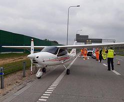Zaskakująca scena na polskiej autostradzie. Wylądowała na niej awionetka