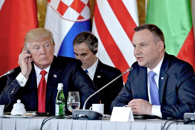 """Andrzej Duda życzy Trumpowi sukcesów i liczy na """"rychłe spotkanie"""""""