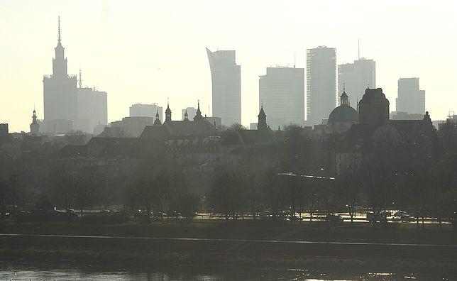 Warszawa. Smog w stolicy 16 stycznia 2020 r.