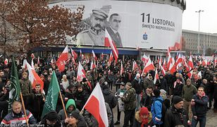 Centrum Warszawy w czasie obchodów ubiegłorocznego Dnia Niepodległości