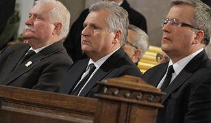 Byli prezydenci: Lech Wałęsa, Aleksander Kwaśniewski i Bronisław Komorowski
