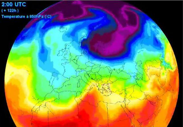 Tak na mapach wygląda uderzenie zimy