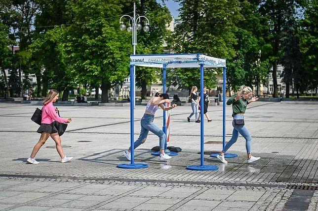 Częstochowa. wzorem innych miast w Częstochowie również stanęły kurtyny wodne.
