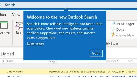 Szukanie maili w Outlooku po nowemu (po gorszemu)
