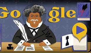 Google Doodle. Alexandre Dumas w wyszukiwarce Google