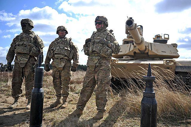 Amerykańscy pancerniacy w Polsce - zdjęcia