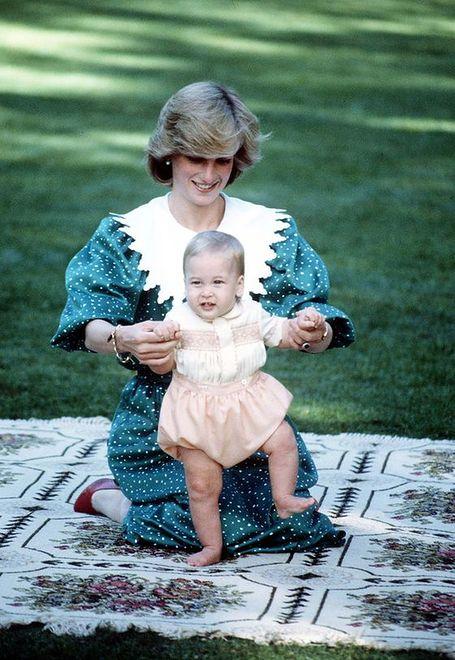 Książę William z matką, Dianą Spencer