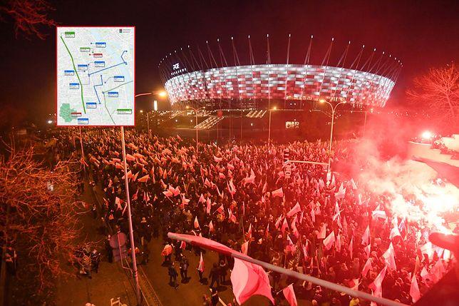 11 listopada Warszawę czeka paraliż komunikacyjny. Ogromne zmiany na drogach i zawieszone linie tramwajowe