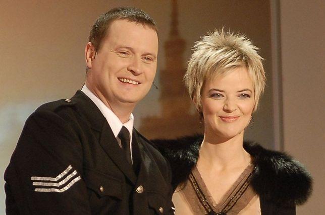 """Kevin Aiston i Monika Zamachowska w 2006 roku podczas nagrania programu """"Europa da się lubić"""""""