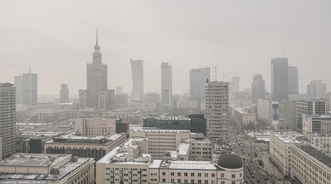 Warszawa. Panorama centrum miasta, ul. Świętokrzyska