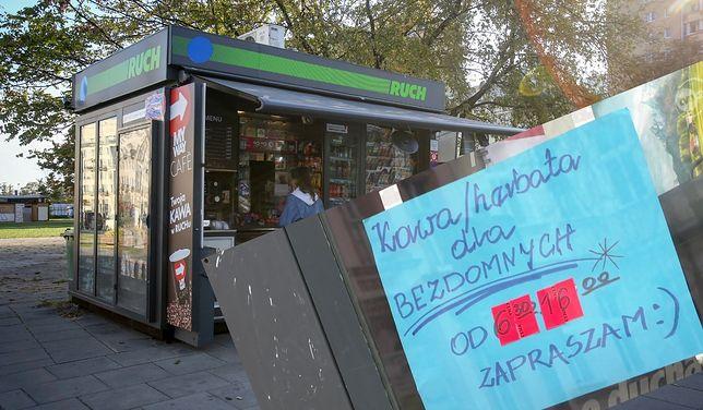 Na kiosku pani Oli pojawiła się karteczka skierowana do osób bezdomnych