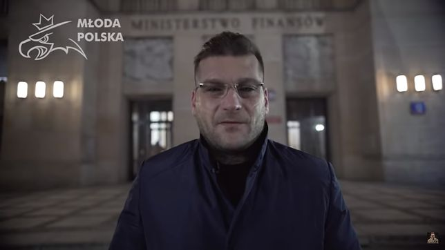 """Paweł """"Popek Monster"""" Mikołajuw, założyciela partii Młoda Polska, promuje Nowoczesną Teorię Pieniądza"""