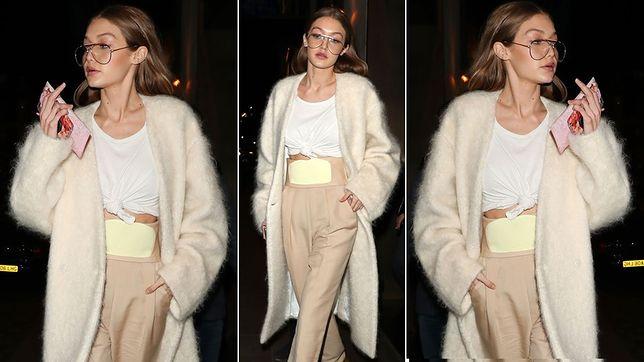 Amerykańska modelka na London Fashion Week