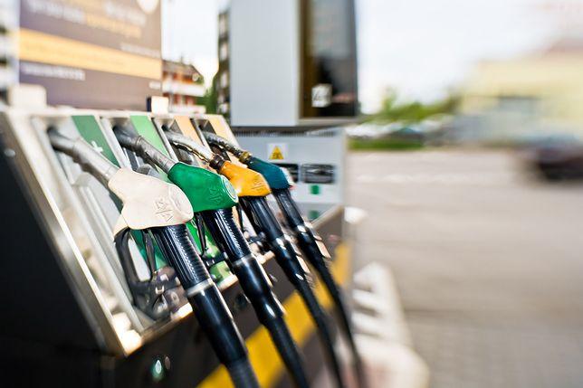 Fuel pump at Petrol Station.