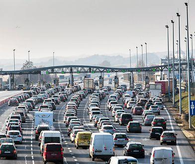 Bramki na autostradzie A4 w kierunku Katowic