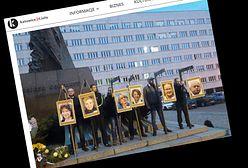 Katowice: narodowcy ustawili szubienice. Zawiesili na nich zdjęcia europosłów PO