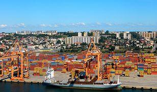 Panorama Gdyni widziana ze statku