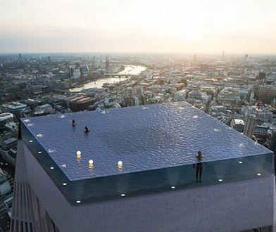 Basen na dachu w Londynie
