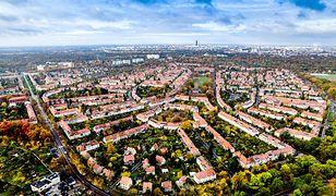 Zdjęcie z lotu ptaka na osiedle Sępolno we Wrocławiu